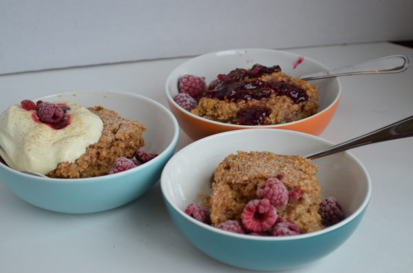 Maple Brown Sugar Baked Oatmeal; a Kid Favorite